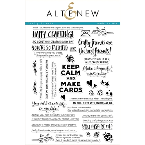 Altenew CRAFTY FRIENDS Clear Stamp Set ALT1688 Preview Image