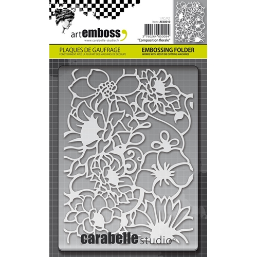 Carabelle Studio COMPOSITION FLORALE Embossing Folder AE60010 Preview Image