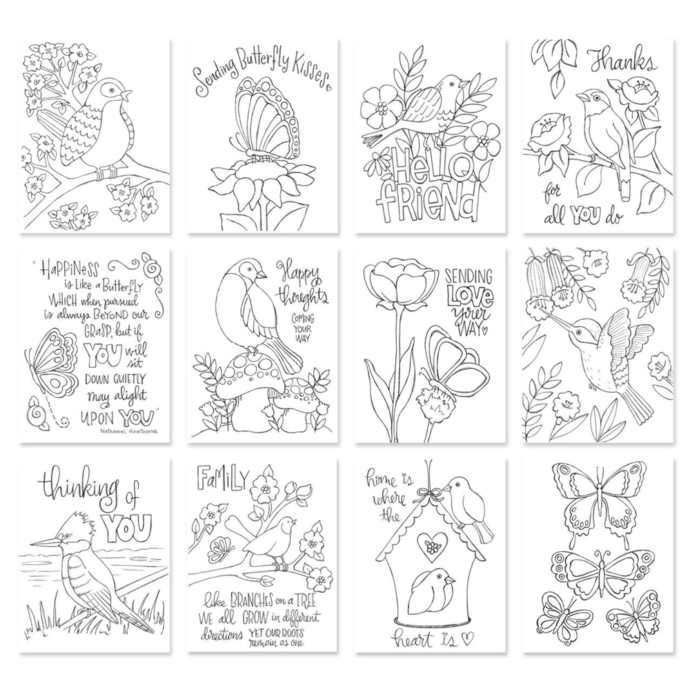 Simon Says Stamp Suzy's BIRDS AND BUTTERFLIES Prints SZBAB17 * zoom image