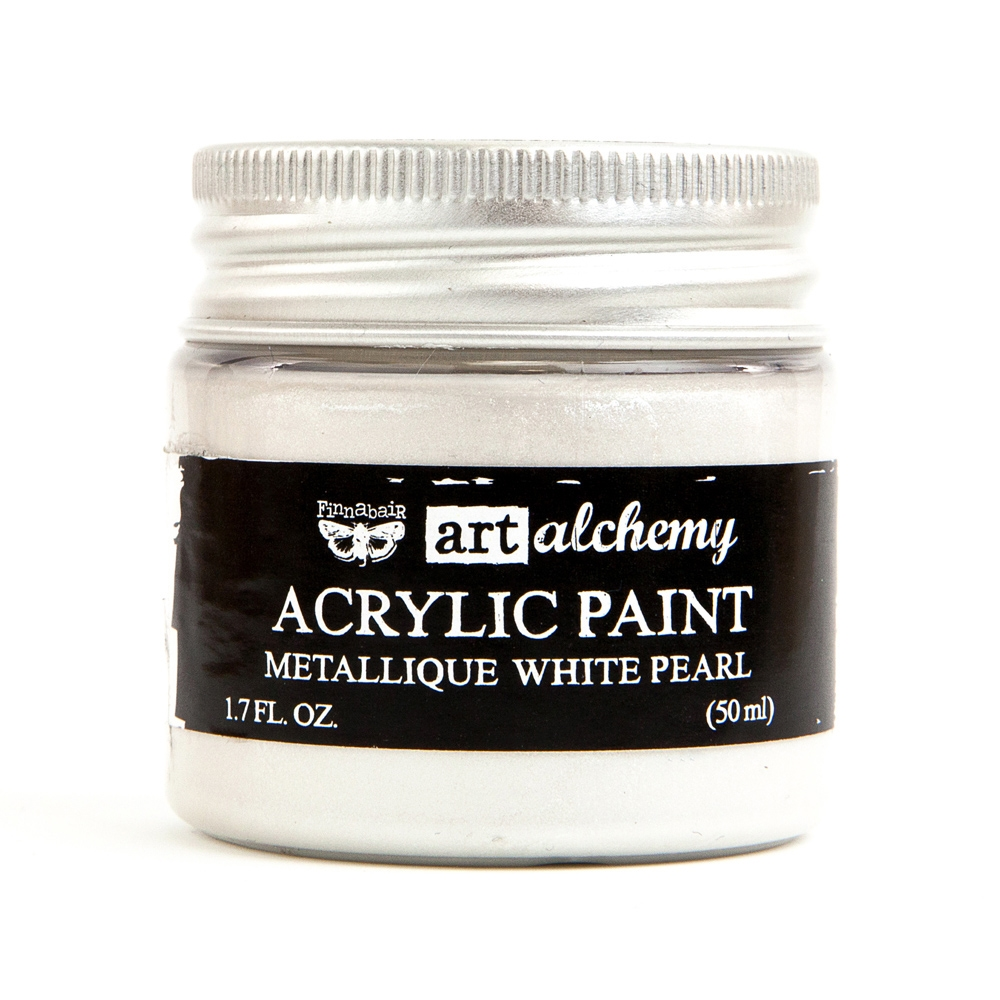 Prima Marketing METALLIQUE WHITE PEARL Art Alchemy Acrylic Paint 964436 zoom image