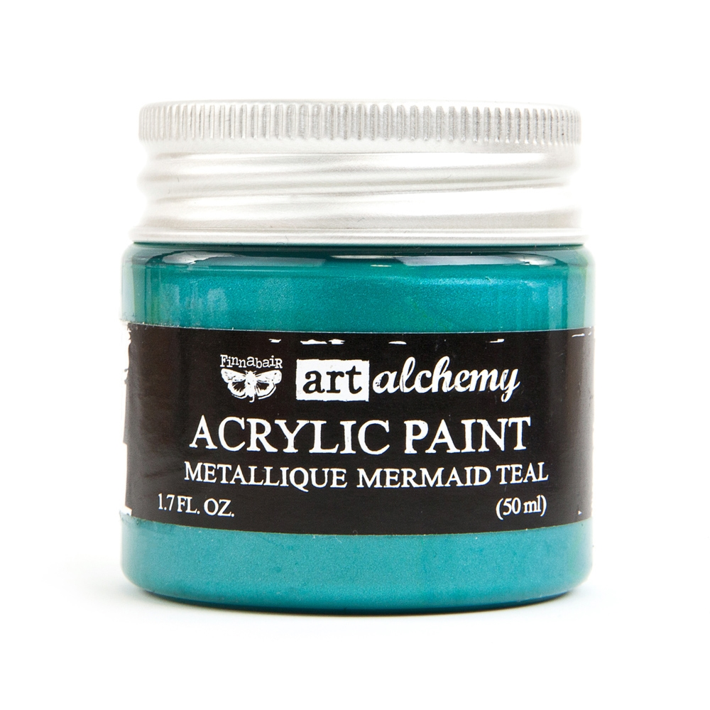 Prima Marketing METALLIQUE MERMAID TEAL Art Alchemy Acrylic Paint 964467 zoom image