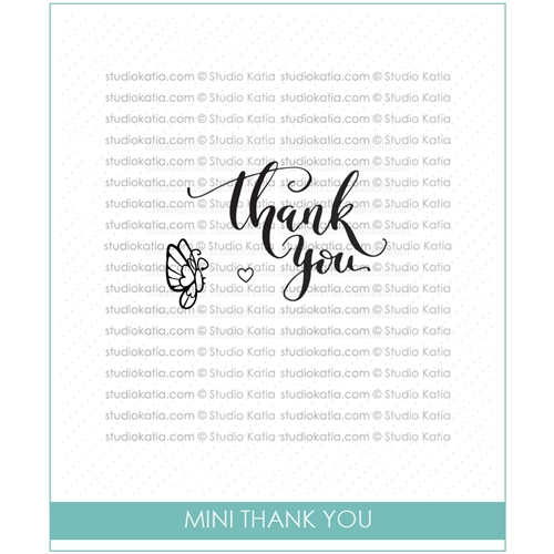 Studio Katia MINI THANK YOU Clear Stamps STKS016 Preview Image