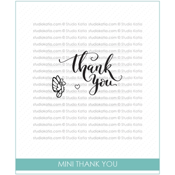 Studio Katia MINI THANK YOU Clear Stamps STKS016