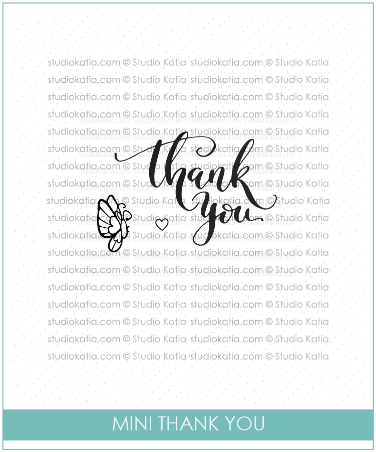 Studio Katia MINI THANK YOU Clear Stamps STKS016 zoom image