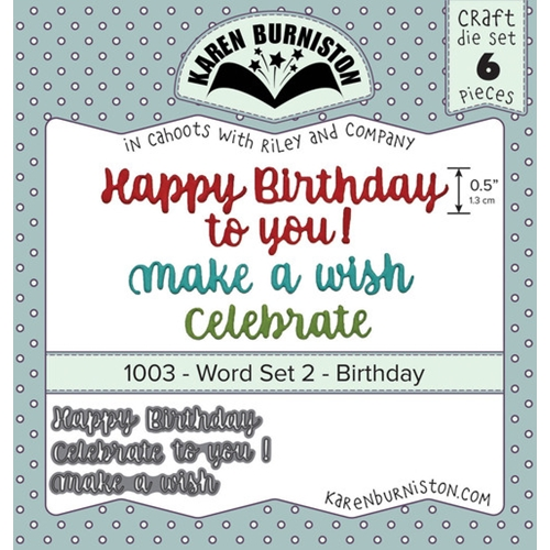 Karen Burniston WORD SET 2 BIRTHDAY Dies 1003 Preview Image