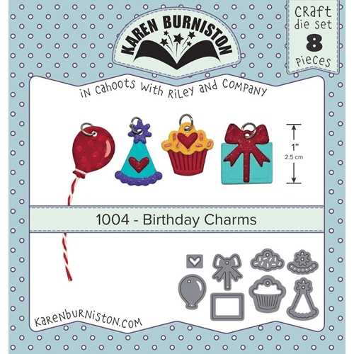 Karen Burniston BIRTHDAY CHARMS Die Set 1004 Preview Image