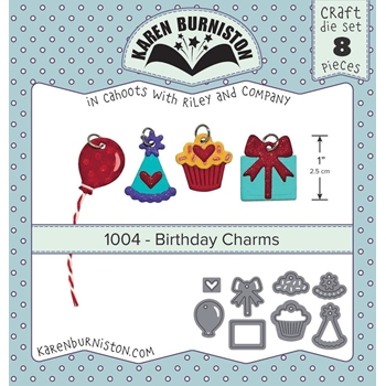 Karen Burniston BIRTHDAY CHARMS Die Set 1004