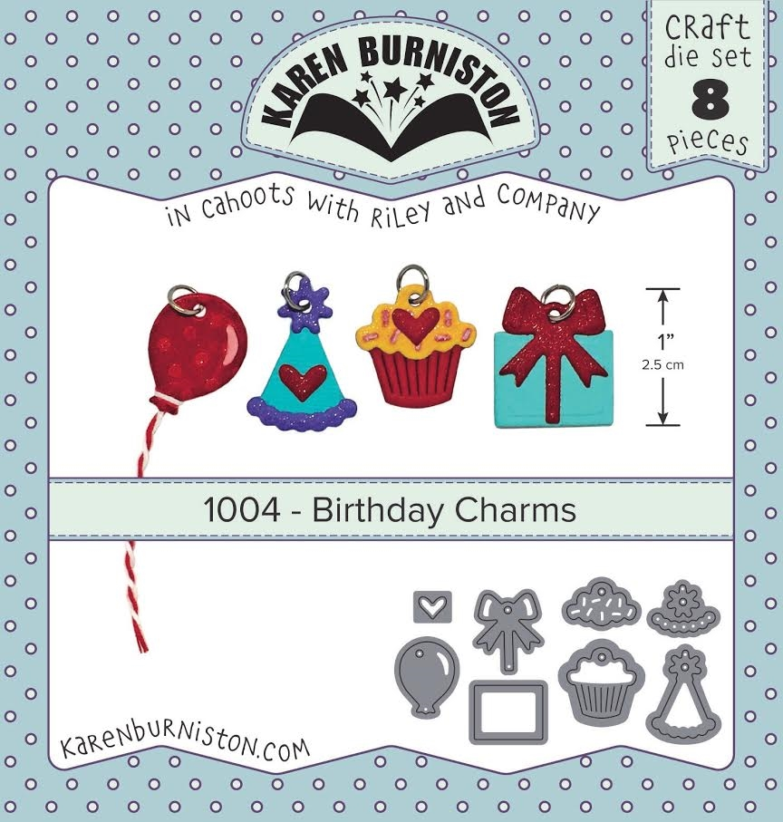 Karen Burniston BIRTHDAY CHARMS Die Set 1004 zoom image
