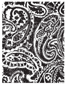 Tim Holtz Rubber Stamp CARVED PAISLEY V4-1162 * Preview Image