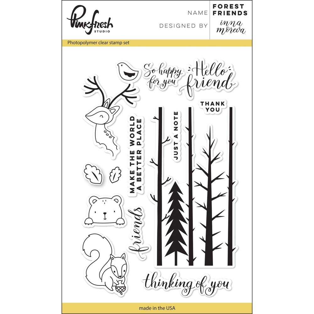 PinkFresh Studio FOREST FRIENDS Clear Stamp Set PFCS2217 zoom image