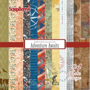 ScrapBerry's ADVENTURE AWAITS 6 x 6 Paper Pack 219243