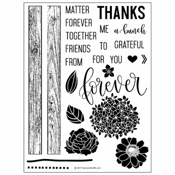 Concord & 9th PETALS & PALLETS Clear Stamp Set 10217C9*
