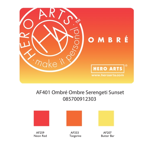 Hero Arts Ombre SERENGETI SUNSET Ink Pad AF401 Preview Image