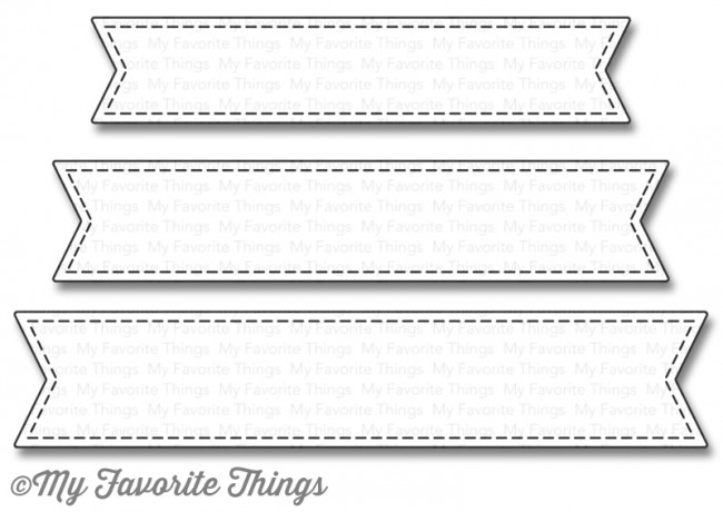 My Favorite Things STITCHED FISHTAIL SENTIMENT STRIPS Die-Namics MFT1123 zoom image