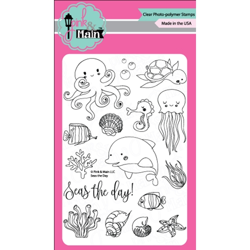 Pink and Main SEAS THE DAY Clear Stamp Set PM0226 Preview Image