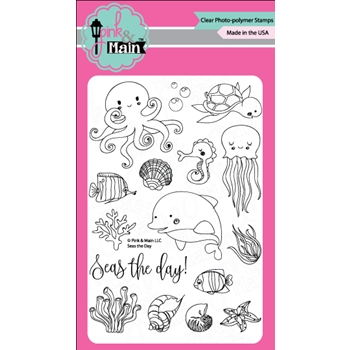 Pink and Main SEAS THE DAY Clear Stamp Set PM0226