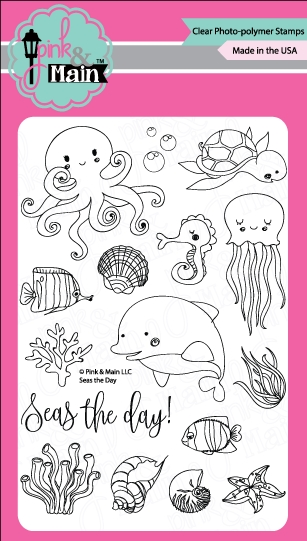 Pink and Main SEAS THE DAY Clear Stamp Set PM0226 zoom image