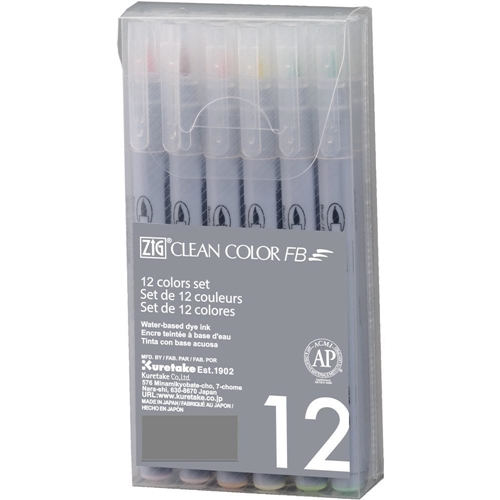 Zig Clean Color Felt Brush Pen Set SOFT FB600T12VA Preview Image