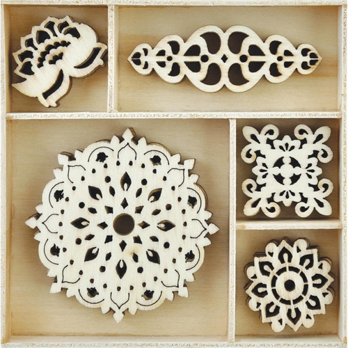 Kaisercraft BOLLYWOOD Wooden Shapes Flourish Pack FL601* Preview Image