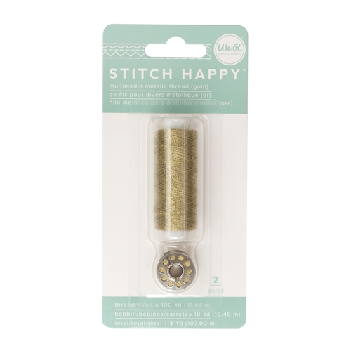 We R Memory Keepers STITCH HAPPY METALLIC GOLD Multimedia Thread 660704 Preview Image