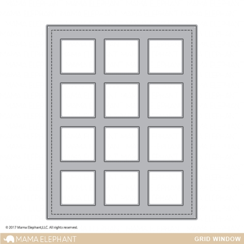 Mama Elephant GRID WINDOW Creative Cuts Steel Die  Preview Image