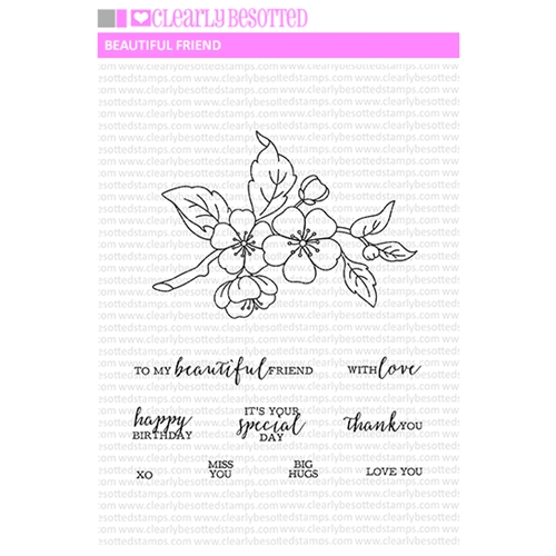 Clearly Besotted BEAUTIFUL FRIEND II Clear Stamp Set Preview Image