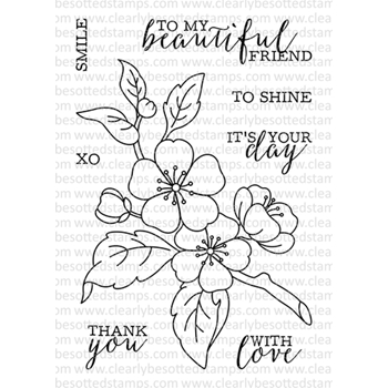 Clearly Besotted BEAUTIFUL FRIEND II Clear Stamp Set