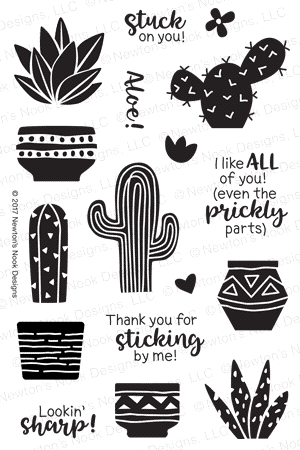 Newton's Nook Designs CULTIVATED CACTI Clear Stamp Set 20170603 zoom image