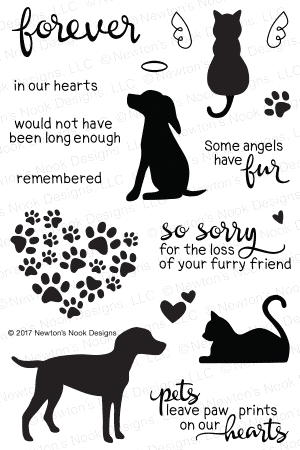 Newton's Nook Designs FURR-EVER FRIENDS Clear Stamp Set 20170601 zoom image