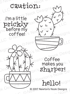 Newton's Nook Designs CUPPA CACTUS Clear Stamp Set 20170604 zoom image