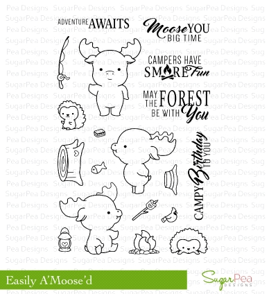 SugarPea Designs EASILY A'MOOSE'D Clear Stamp Set SPD-00210* Preview Image