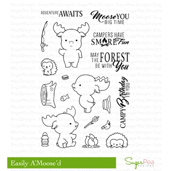 SugarPea Designs EASILY A'MOOSE'D Clear Stamp Set SPD-00210*