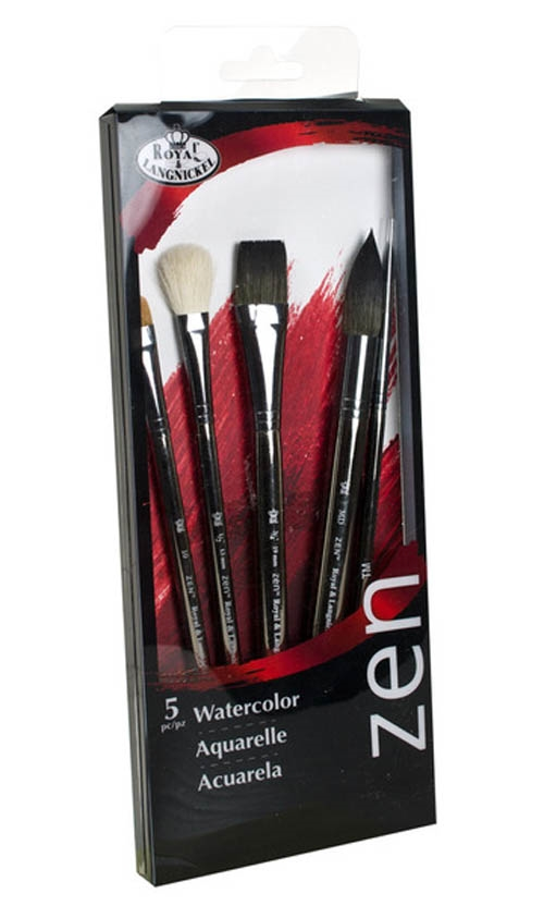 Royal Langnickel ZEN WATERCOLOR BRUSH Set RZENSET832 zoom image