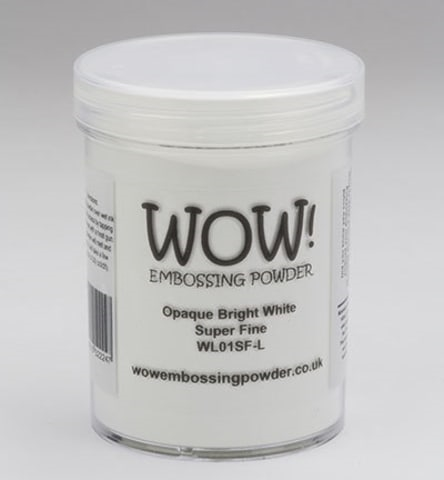 WOW Embossing Powder OPAQUE BRIGHT WHITE Super Fine Large Jar WL01SF-L Preview Image