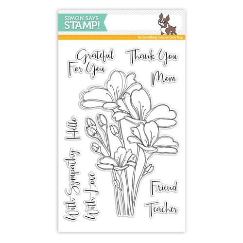 Simon Says Clear Stamps BOUQUET OF THANKS SSS101748c One Of A Kind Preview Image