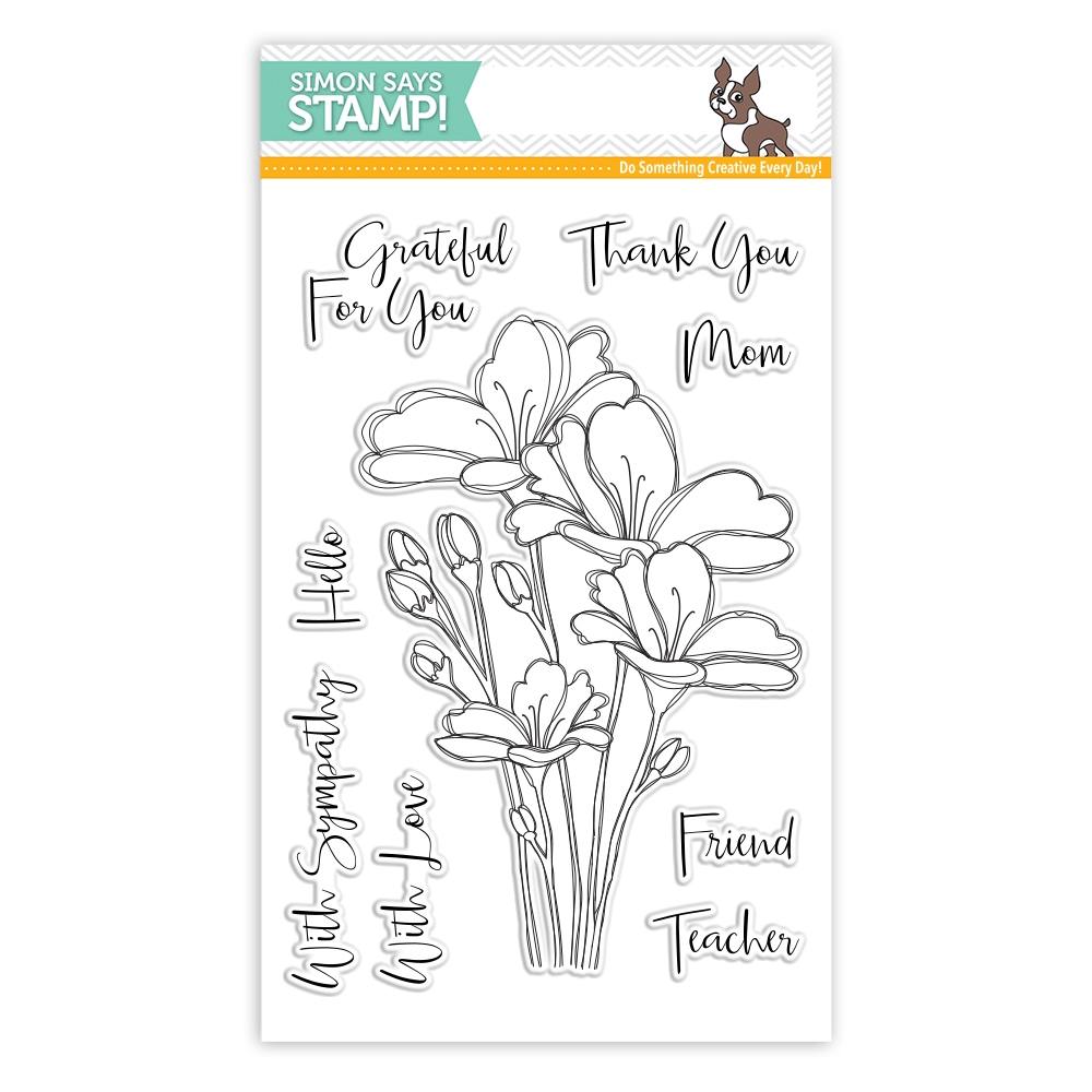 Simon Says Clear Stamps BOUQUET OF THANKS SSS101748c One Of A Kind zoom image
