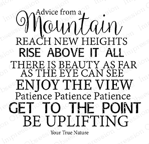 Impression Obsession Cling Stamp ADVICE MOUNTAIN H17183 Preview Image