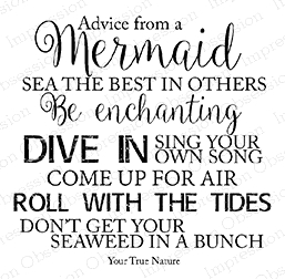Impression Obsession Cling Stamp ADVICE MERMAID F17184 Preview Image