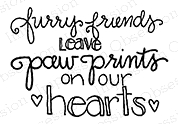 Impression Obsession Cling Stamp FURRY FRIENDS D19484 Preview Image