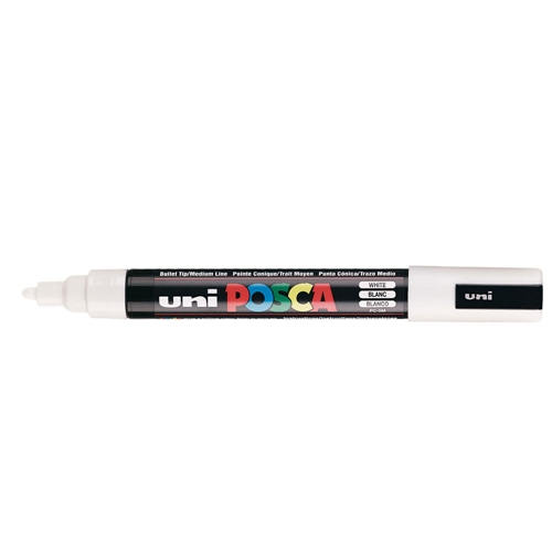 Uni POSCA MEDIUM POINT WHITE Paint Marker PC5M Preview Image