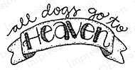 Impression Obsession Cling Stamp DOG HEAVEN C19482* zoom image