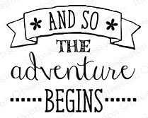 Impression Obsession Cling Stamp THE ADVENTURE D14625 Preview Image