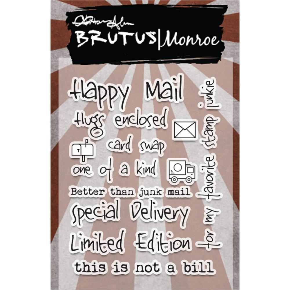 Brutus Monroe Clear Stamps HAPPY MAIL BRU2135 zoom image