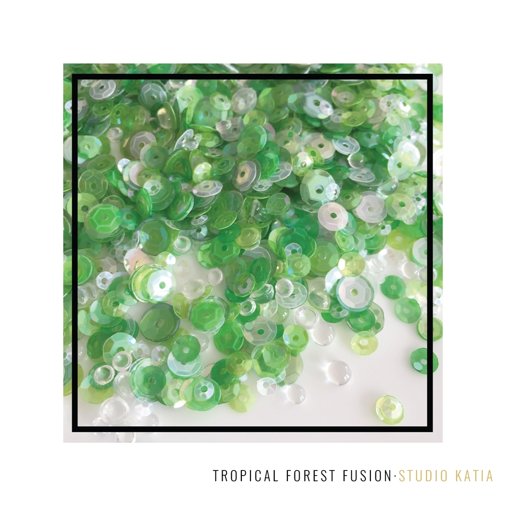 Studio Katia TROPICAL FOREST Fusion Sequins SK2835 zoom image
