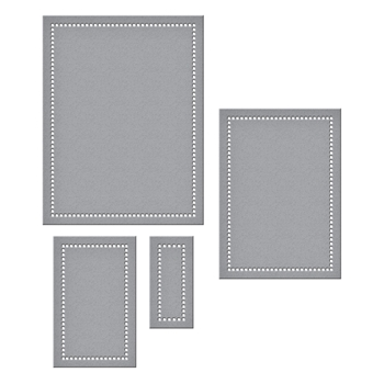 S5-308 Spellbinders HEMSTITCH RECTANGLES Etched Dies Venise Lace by Becca Feeken