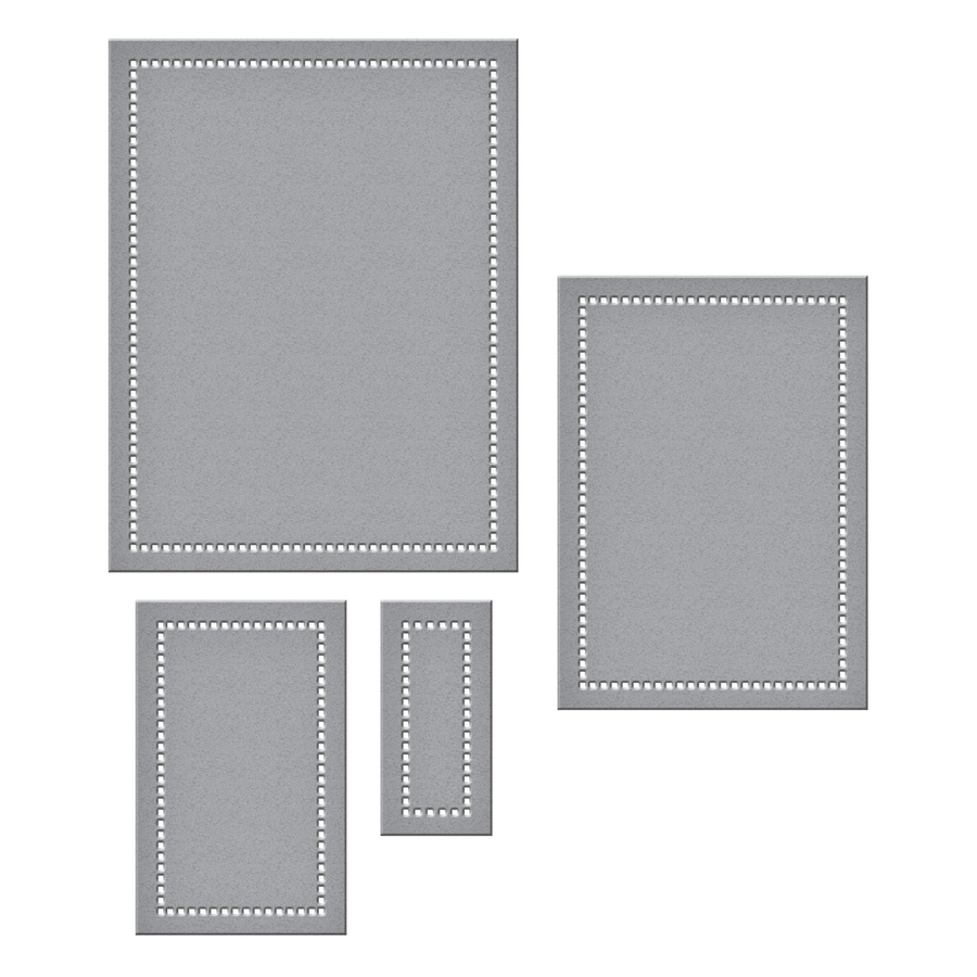 S5-308 Spellbinders HEMSTITCH RECTANGLES Etched Dies Venise Lace by Becca Feeken zoom image