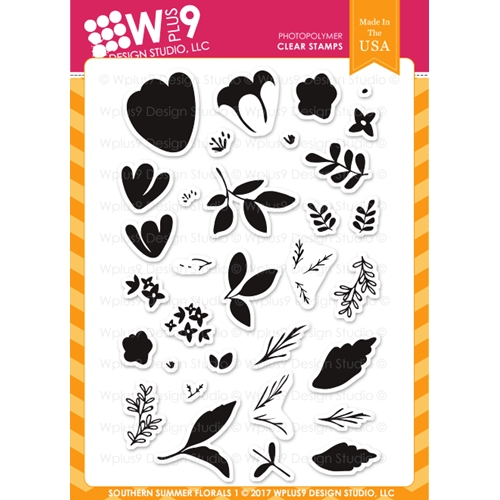 Wplus9 SOUTHERN SUMMER FLORALS 1 Clear Stamps CL-WP9SSF1 Preview Image