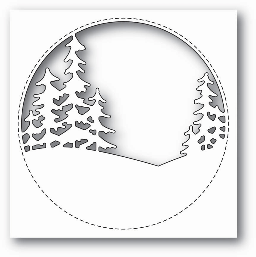 Memory Box STITCHED CIRCLE TREES Craft Die 99843 zoom image