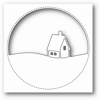 Memory Box STITCHED CIRCLE CABIN Craft Die 99852