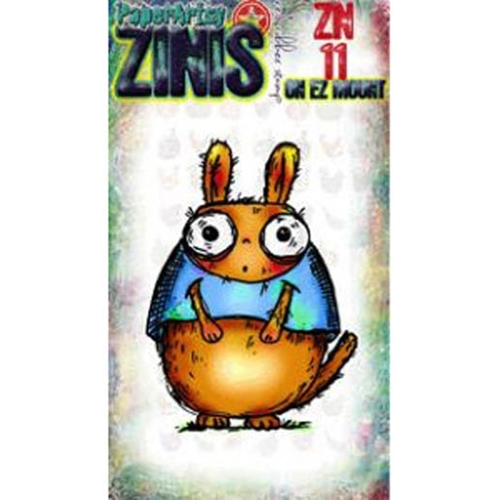 Paper Artsy ZINI 11 Maxi Mini Rubber Cling Stamp ZN11 Preview Image